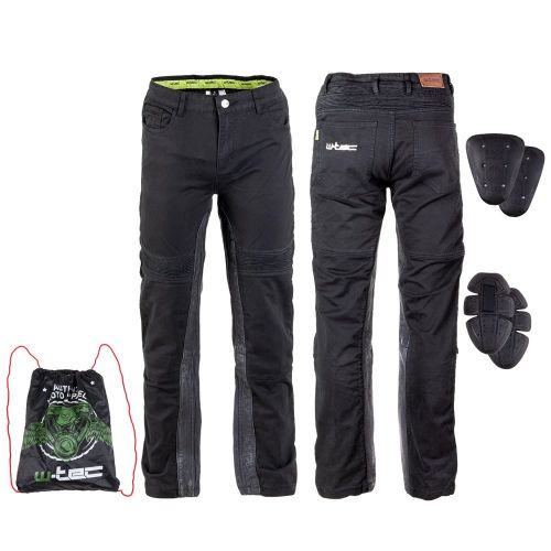 W-TEC Pánské moto kalhoty Raggan - barva černá, velikost S