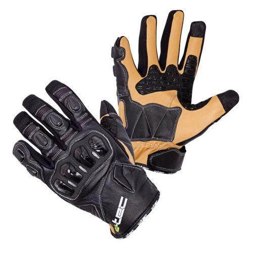 W-TEC Kožené moto rukavice Flanker B-6035 - barva černá, velikost S