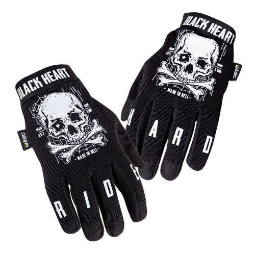 W-TEC Moto rukavice Web Skull - barva černá, velikost S