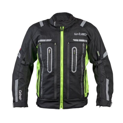 W-TEC Moto bunda Gelnair - barva černo-zelená, velikost XS