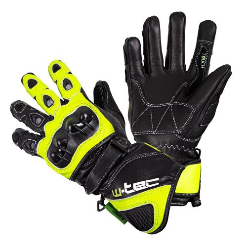 W-TEC Motocyklové rukavice Supreme EVO - barva černo-zelená, velikost S