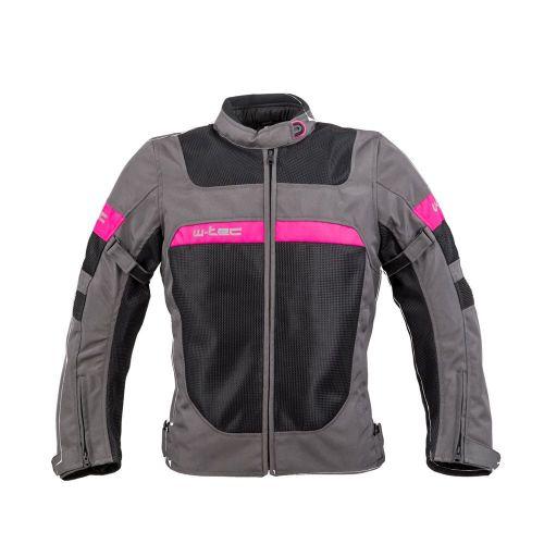W-TEC Dámská letní moto bunda Monaca - barva Black Mesh-Pink, velikost XS
