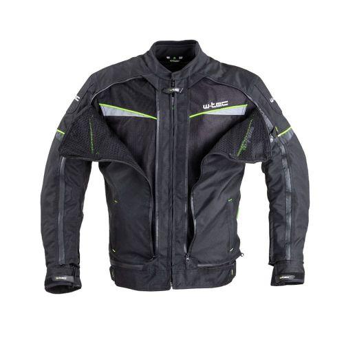 W-TEC Pánská moto bunda Progair - barva černá-fluo, velikost M