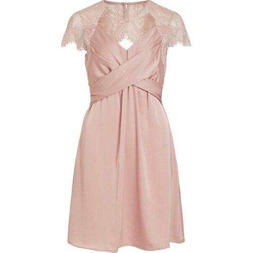VILA Dámské šaty VISHEA CAPSLEEVE DRESS/DC Pale Mauve (Velikost 34)