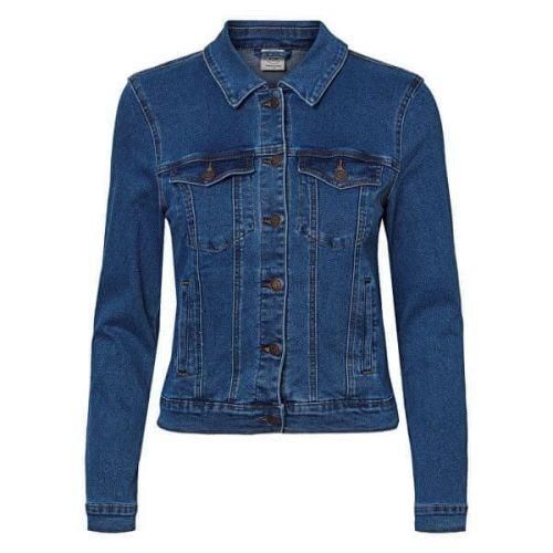 Vero Moda Dámská džínová bunda VMHOT 10193085 Medium Blue Denim (Velikost XS)