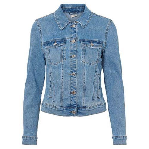 Vero Moda Dámská džínová bunda VMHOT SOYA 10193085 Light Blue Denim (Velikost XS)
