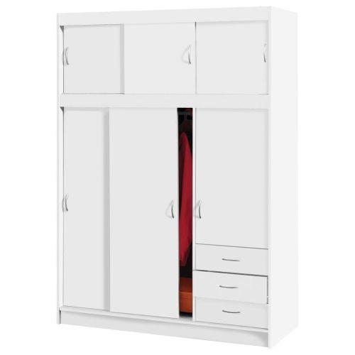 IDEA nábytek Skříň s posuvnými dveřmi 3000 bílá