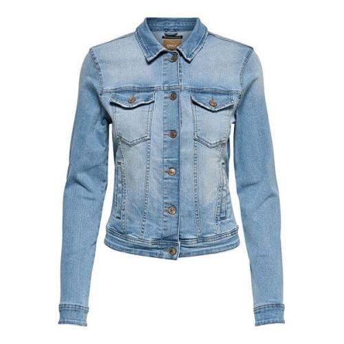 ONLY Dámská džínová bunda ONLTIA 15177241 Light Blue Denim (Velikost 34)