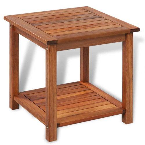 shumee Odkládací stolek masivní akáciové dřevo 45 x 45 x 45 cm