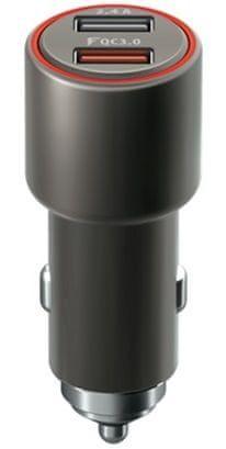 Forever Rychlonabíječka do auta Core USB QC 3.0 a USB, 30 W, černá GSM045484