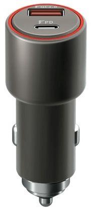 Forever Rychlonabíječka do auta Core USB QC 3.0 a USB-C PD, 36 W, černá GSM045486