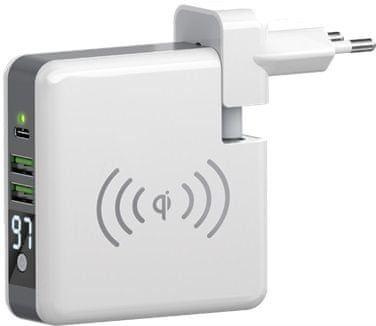 Forever Multifunkční cestovní nabíječka Core, 6700 mAh, bílá GSM045799