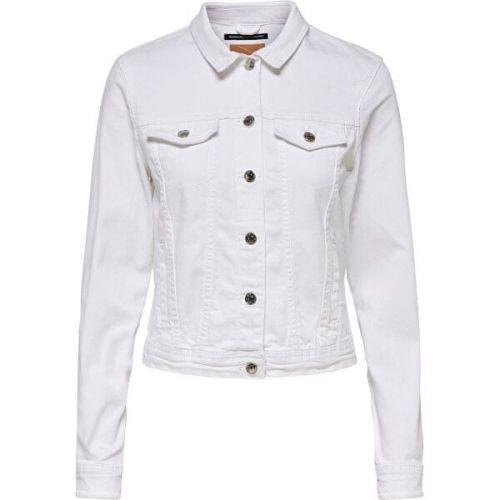 ONLY Dámská džínová bunda ONLTIA 15177238 White (Velikost 36)