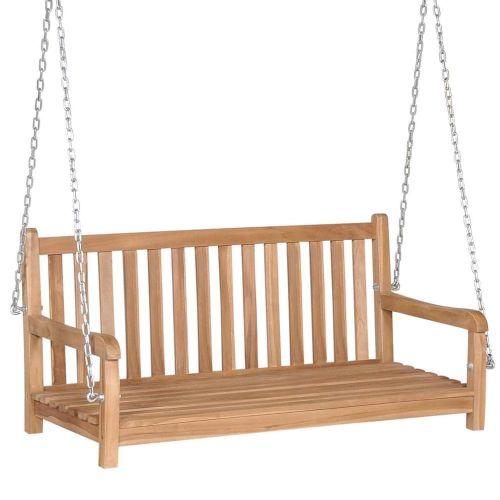 shumee Houpací lavice z masivního teaku 120 x 60 x 57,5 cm hnědá