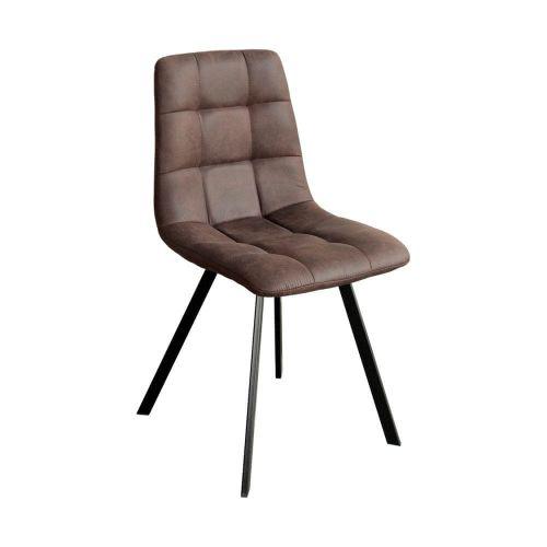 IDEA nábytek Jídelní židle BERGEN hnědé mikrovlákno