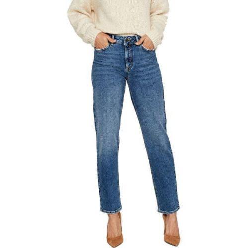 Vero Moda Dámské relaxed straight fit džíny VMSARA 10217406 Medium Blue Denim (Velikost 25/30)