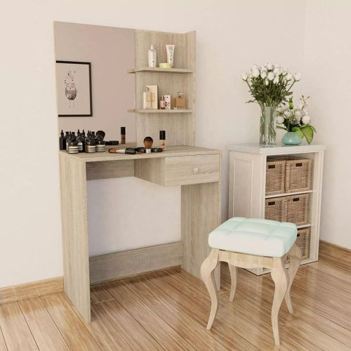 shumee Toaletní stolek dřevotříska 75x40x141 cm dub
