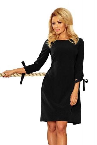 Numoco Dámské šaty 195-8 + Ponožky Gatta Calzino Strech, černá, XXL