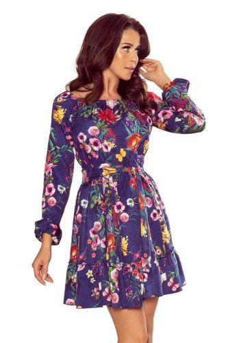 Numoco Dámské šaty 265-2 Daisy + Ponožky Gatta Calzino Strech, vícebarevné, L