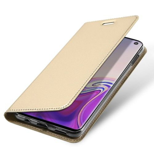 Dux Ducis Skin Pro knížkové kožené pouzdro pro Samsung Galaxy S10e, zlaté