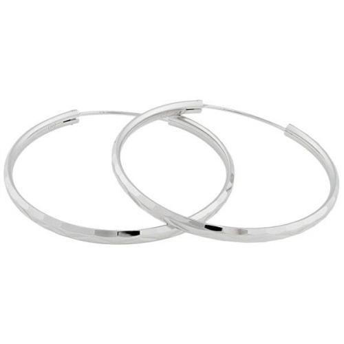 JVD Stříbrné náušnice kruhy SVLE0209XD500 (Průměr 4 cm)