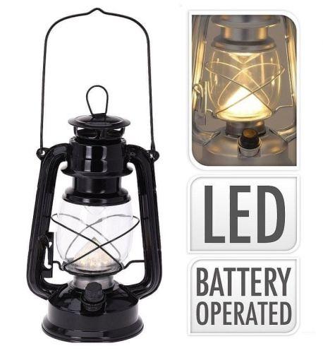 ProGarden Lucerna s LED žárovkou 24 cm černá
