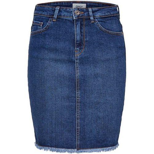 ONLY Dámská sukně ONLELIZA LIFE 15159611 Medium Blue Denim (Velikost 34)