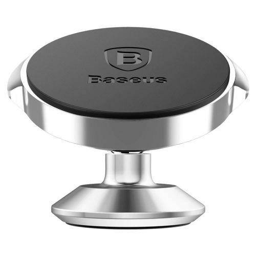 BASEUS Small Ears univerzální magnetický držák na mobil do auta, stříbrný