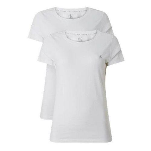 Calvin Klein 2 PACK - dámské triko CK One QS6442E-100 White (Velikost XS)