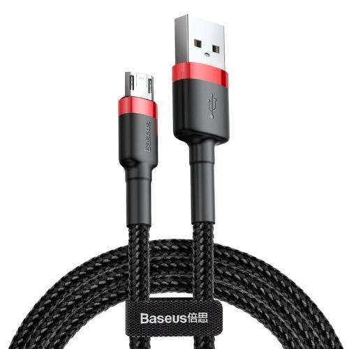 BASEUS Cafule kabel USB / micro USB QC 3.0 1.5A 2m, černý/červený