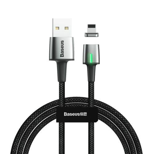 BASEUS Zinc magnetický kabel USB / Lightning 2m, černý