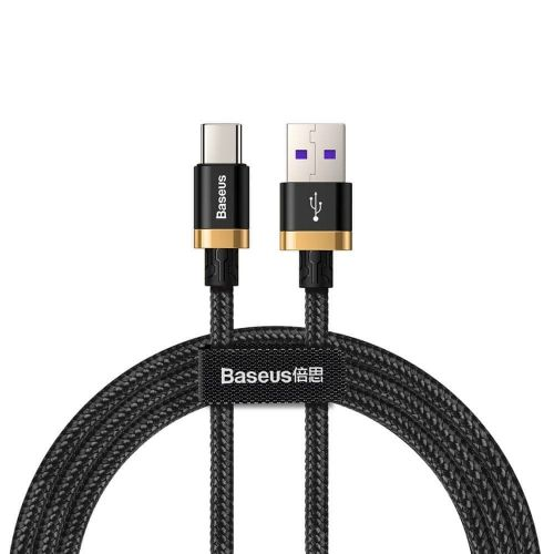 BASEUS Purple Gold kabel USB / USB-C Quick Charge 3.0 1m, černý
