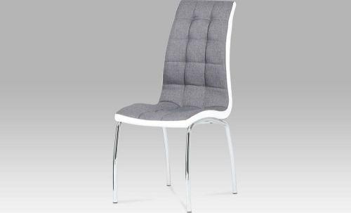 ART Jídelní židle látka šedá / chrom DCL-420 GREY2 Art