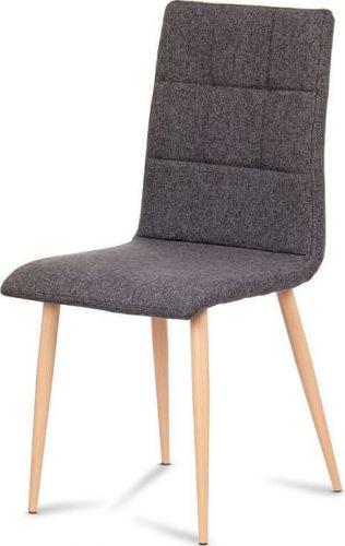 ART Jídelní židle, šedostříbrná látka, kov dekor buk DCL-603 SIL2 Art