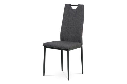 ART Jídelní židle, šedá látka, kov černý mat DCL-391 GREY2 Art