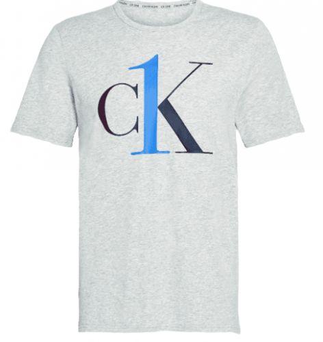 Calvin Klein pánské tričko NM1903E S/S Crew Neck S šedá