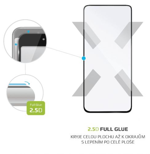 Fixed Ochranné tvrzené sklo Full-Cover pro Xiaomi Poco X2, lepení přes celý displej, černé FIXGFA-519-BK