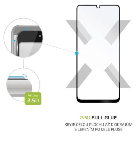Fixed Ochranné tvrzené sklo Full-Cover pro Samsung Galaxy A31, lepení přes celý displej, černé FIXGFA-527-BK