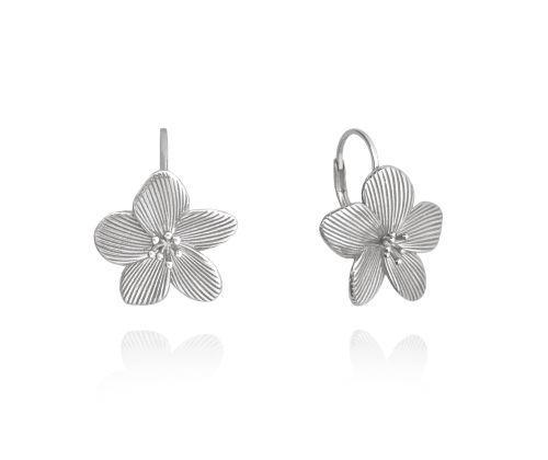 MINET Rozkvetlé stříbrné náušnice MINET FLOWERS