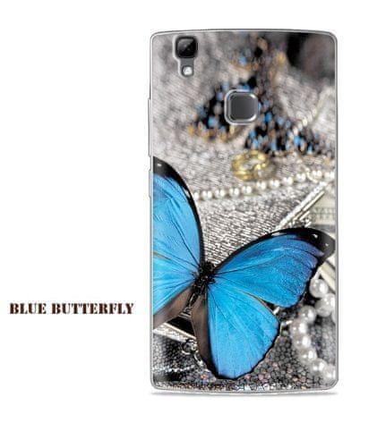 OEM Slikonový obal BLUE BUTTERFLY pro DOOGEE X5 MAX