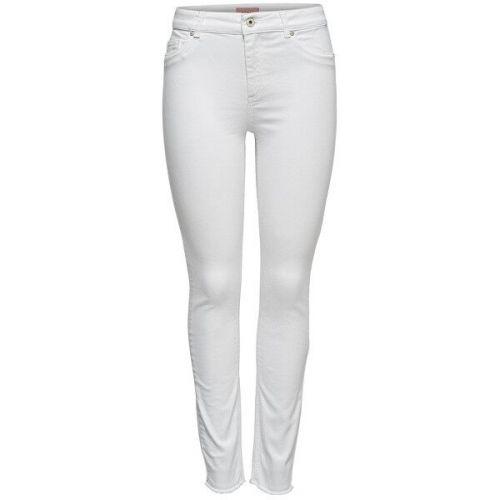 ONLY Dámské slim fit džíny ONLBLUSH 15155438 White (Velikost L/30)