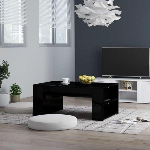 Vidaxl Konferenční stolek černý vysoký lesk 100x60x42 cm dřevotříska