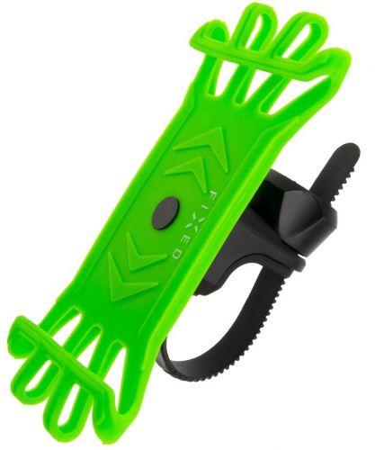 Fixed Silikonový držák mobilního telefonu na kolo Bikee, limetkový FIXBI-LI