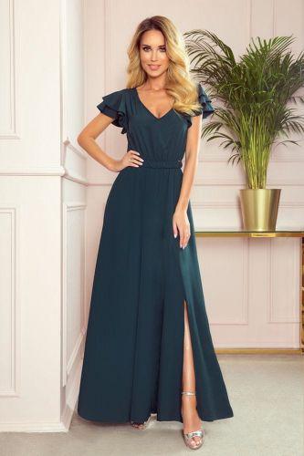 Numoco Dámské šaty 310-1 Lidia, zelená, XL