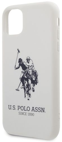 U.S. Polo Assn. Big Horse Silicone Effect kryt pro iPhone 11 USHCN61SLHRWH
