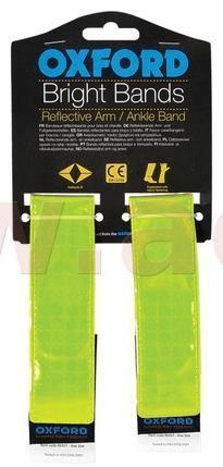 Oxford reflexní pásky Bright Bands na suchý zip, OXFORD (žlutá fluo, pár) RE457