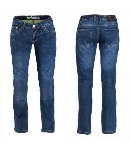 W-TEC Dámské moto jeansy W-TEC Kavec 33 tmavě modrá