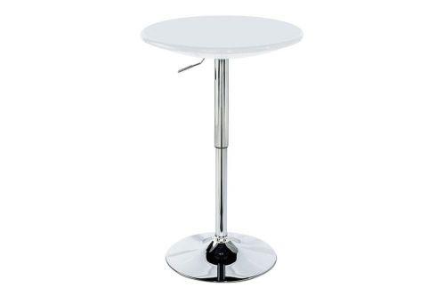 Autronic (AUB-5010 WT) Barový stůl, bílá / chrom