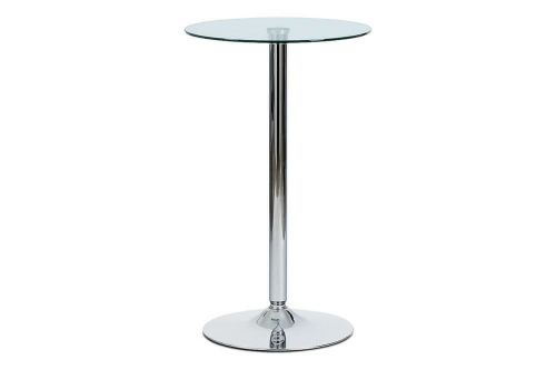 Autronic Barový stůl čiré sklo AUB-6070 CLR