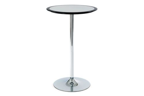 Autronic Barový stůl černo-stříbrný plastový AUB-6050 BK